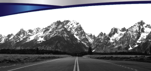 mountains bw with swoosh